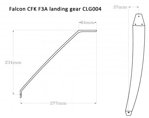 Falcon CFK F3A Fahrwerk CLG-004