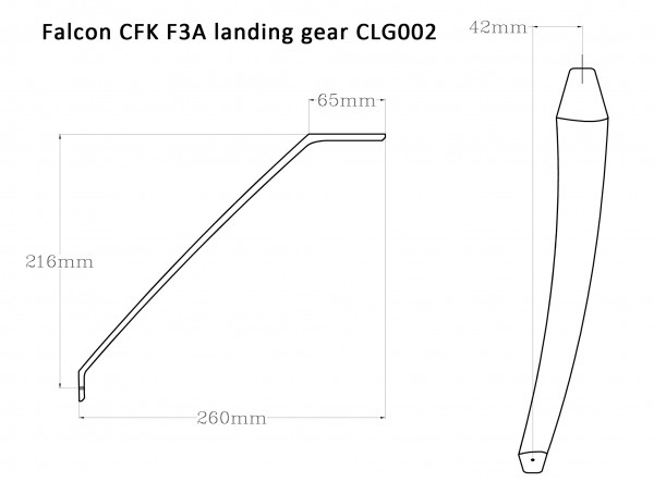 Falcon CFK F3A Fahrwerk CLG-002