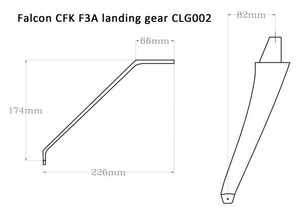 Falcon CFK F3A Fahrwerk CLG-003